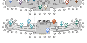 Plan of the museum