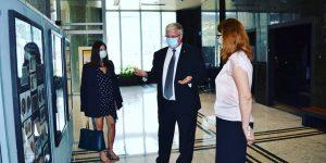 """Рускиот амбасадор во посета на изложбата """"Културното богатство во марките на Македонска пошта – археологија"""""""