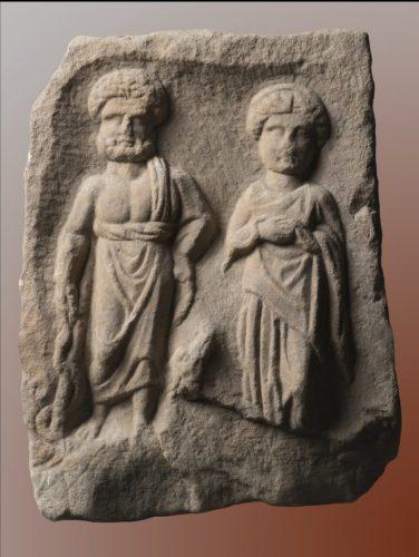 Read more about the article Вотивен релјеф со претстава на богот Асклепиј и божицата Хигија