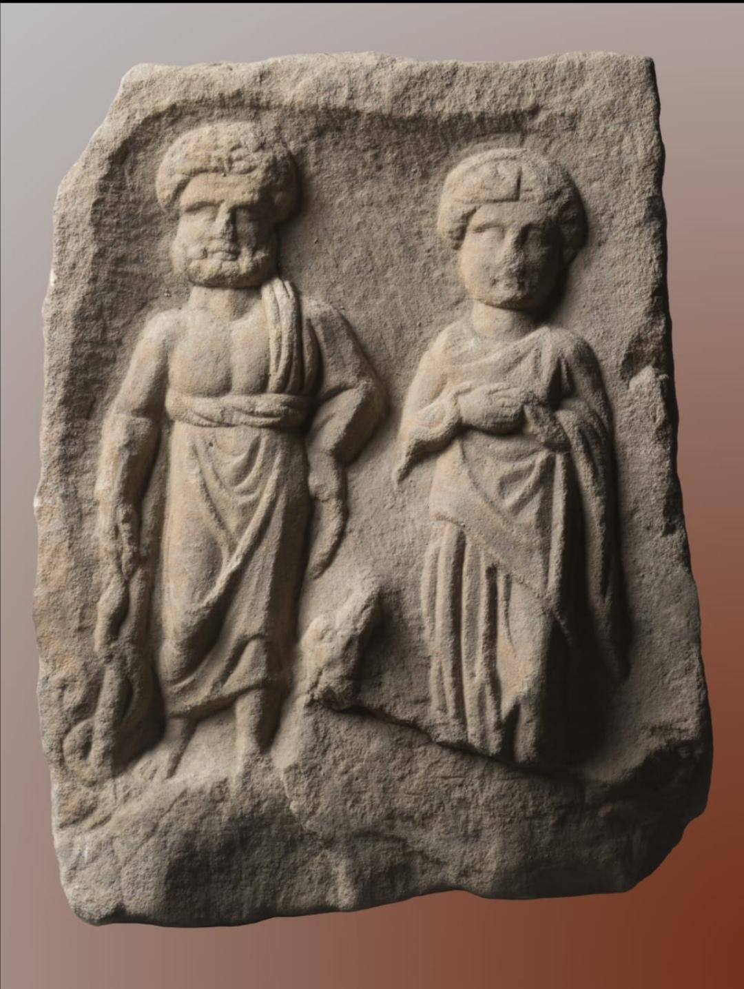 Вотивен релјеф со претстава на богот Асклепиј и божицата Хигија