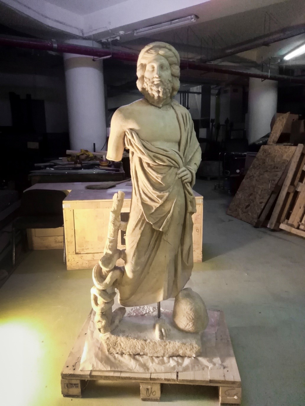 Статуата на Асклепиј, наскоро дел од постојаната поставка на музејот